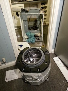 Washing machine in bits