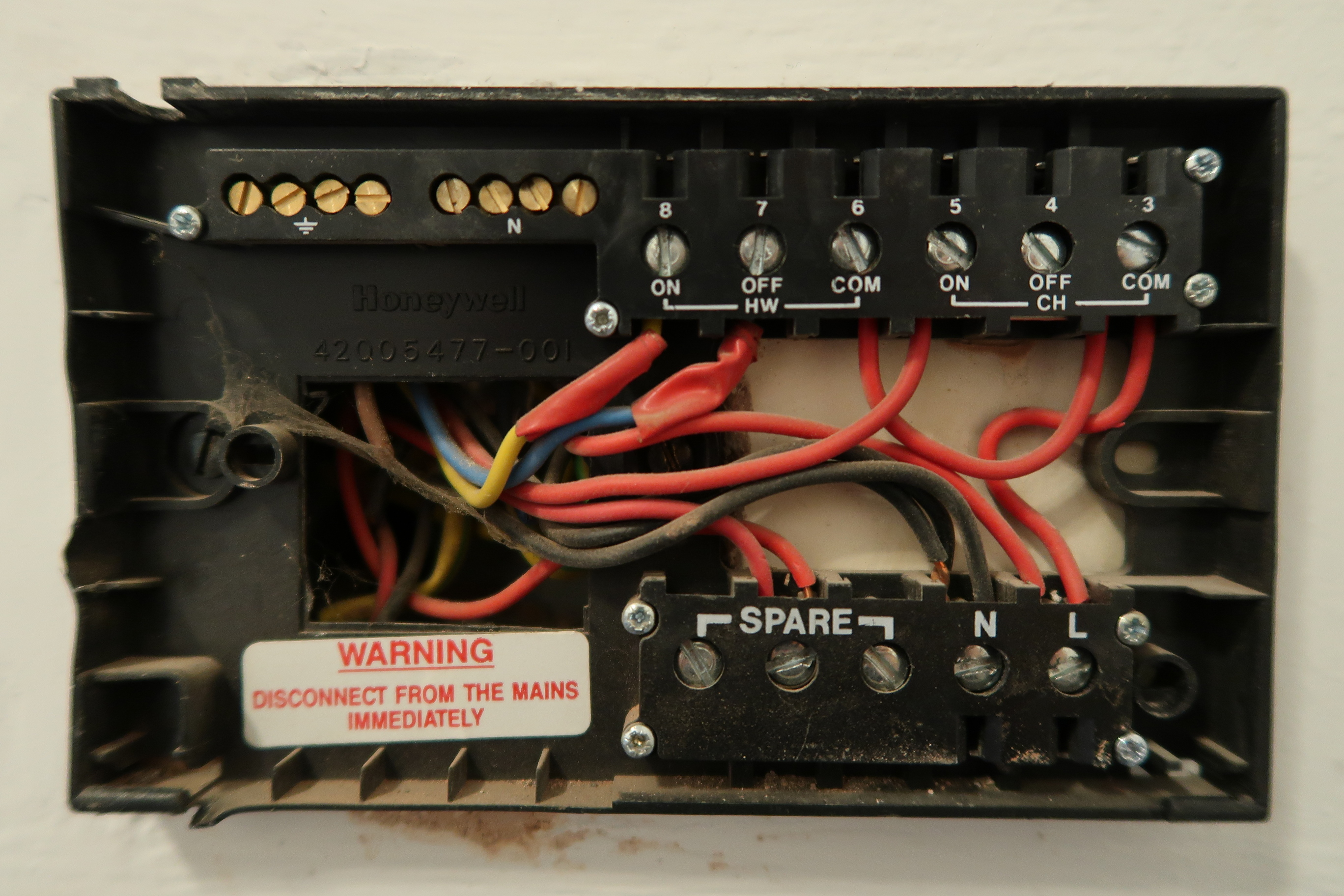 St7100 7 day 2 channel programmer honeywell home heating controls.